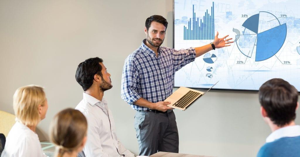 Man Presenting to Investors