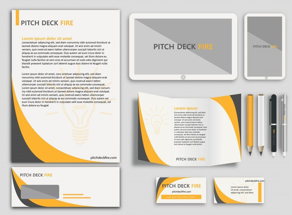 Branding consistently pitch deck