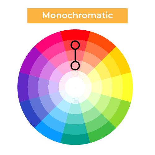 Monochromatic colors pitch deck