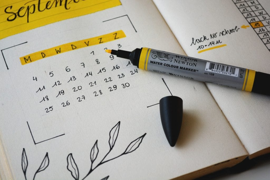 Pitch presentation calendar