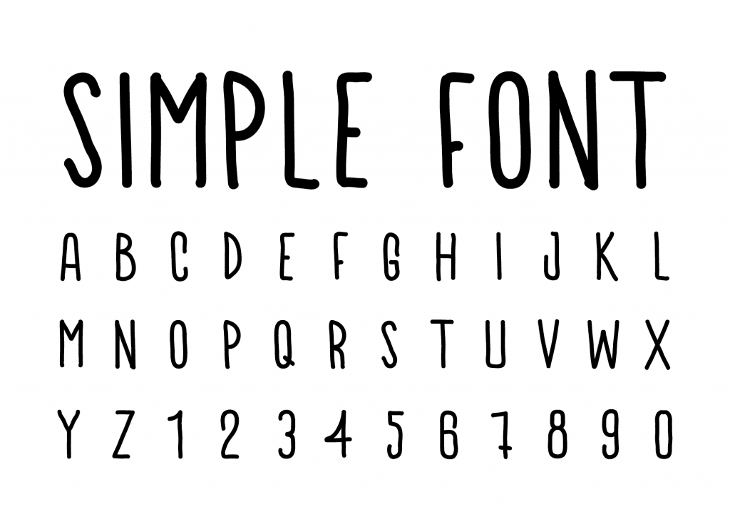 simple font-01